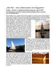 """""""Der Nil – die Lebensader von Ägypten"""" oder ... - Sindbad Reisen"""