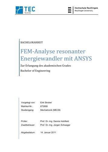 Resonanter magazine for Fem analyse