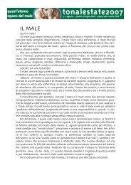 Scarica la presentazione in italiano (.pdf) - Tonalestate
