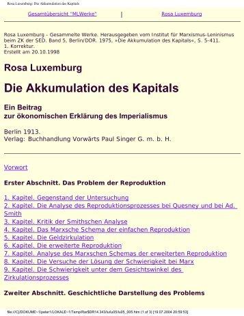 Rosa Luxemburg Die Akkumulation des Kapitals Ein ... - Attac Berlin