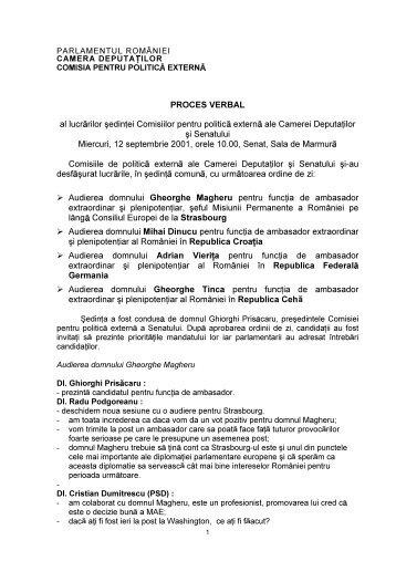 PROCES VERBAL al lucr rilor úedin ei Comisiilor pentru politic ...