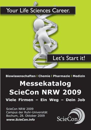 Messekatalog ScieCon NRW 2009 Viele Firmen ... - ScieCon - btS
