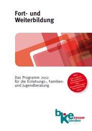 Fort- und Weiterbildung - Bundeskonferenz für Erziehungsberatung