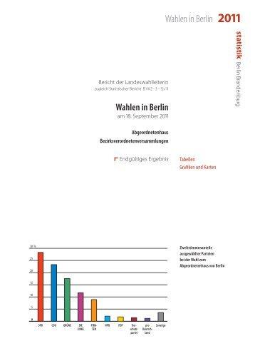 2011 - Die Landeswahlleiterin für Berlin