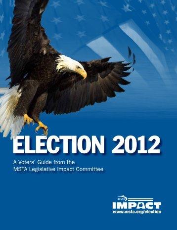 Election 2012 Voters' Guide - Missouri State Teachers Association