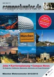 Ausgabe München Wintersemester 2012 - campushunter.de