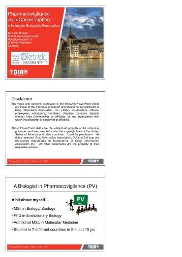 PV - Drug Information Association