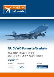 19. DVWG Forum Luftverkehr - Internationales Verkehrswesen