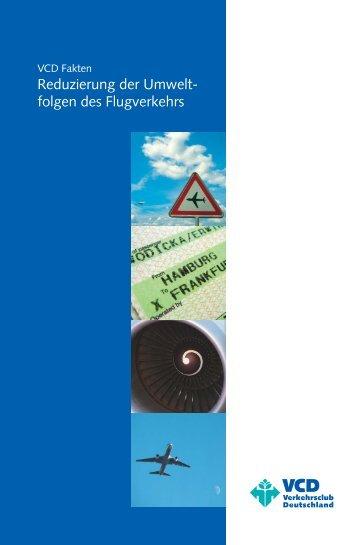 Reduzierung der Umweltfolgen des Flugverkehrs - VCD