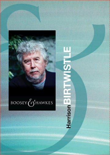 Composer Brochure | Works - Boosey & Hawkes