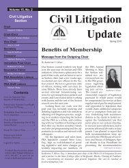Civil Litigation Update - Pennsylvania Bar Association
