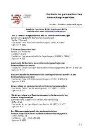 Das Recht der parlamentarischen ... - Hessen