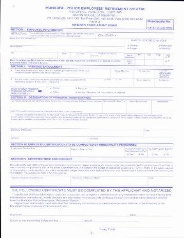 Member Enrollment Form - mpers