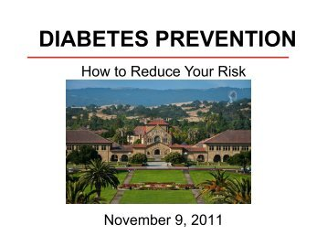 DIABETES PREVENTION - Health Improvement Program