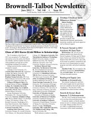 Brownell-Talbot Newsletter - Brownell-Talbot School