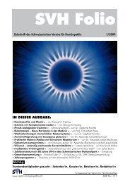 NEU! - SVH - Schweizerischer Verein für Homöopathie