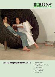 Verkaufspreisliste 2012 - Korbena