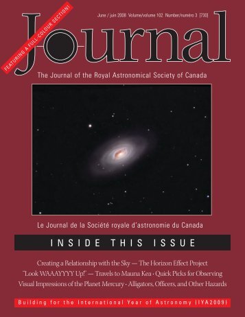 Hi-res - RASC National - the Royal Astronomical Society of Canada