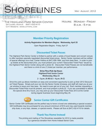 Member Priority Registration - Highland Park, IL
