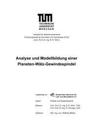 Analyse und Modellbildung einer Planeten-Wälz-Gewindespindel