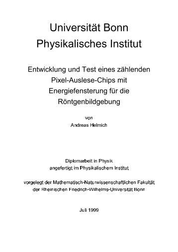 Universität Bonn Physikalisches Institut - Prof. Dr. Norbert Wermes ...