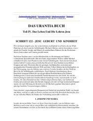 Das Urantia Buch - Schrift 122 - Jesu Geburt und Kindheit