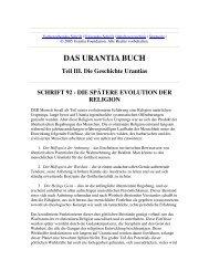 Das Urantia Buch - Schrift 92 - Die Spätere Evolution der Religion