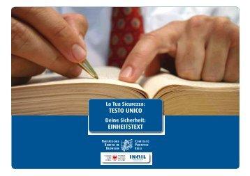 Volume 1 TESTO UNICO EINHEITSTEXT - Rete Civica dell'Alto Adige