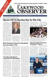 Steven Ott To Receive Key To The City - Lakewood Observer