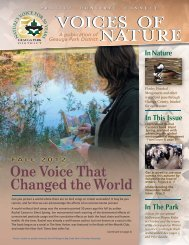 One Voice That Changed the World FALL 2012 - Geauga Park District