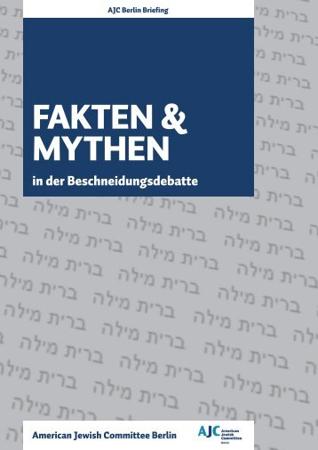 FAKten & mYtHen - American Jewish Committee Berlin Office