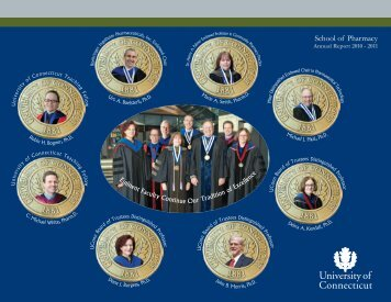 Annual Report 2011 - School of Pharmacy - University of Connecticut