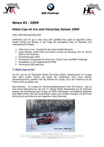 News 01 / 2009 - Histo-Cup Austria