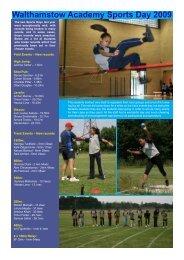 Walthamstow Academy Sports Day 2009