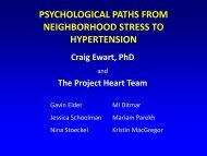 psychological paths from neighborhood stress to hypertension