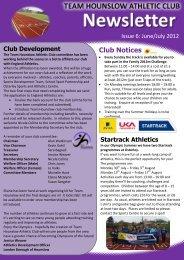 Club Notices - Team Hounslow Athletic Club