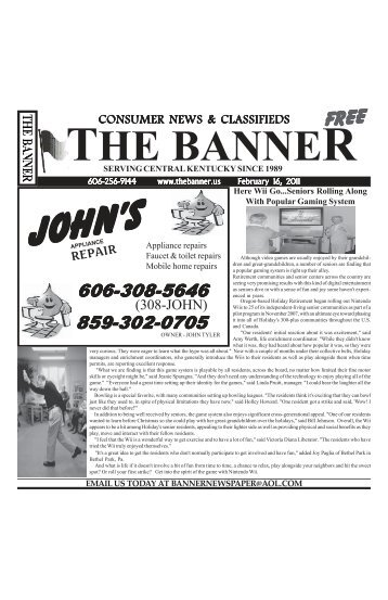 February 16, 2011 - The Banner Online