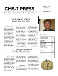 Issue 2 - November 2008 - School District of the Chathams