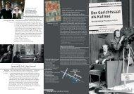 Der Gerichtssaal als Kulisse. Die Nürnberger Prozesse im Film