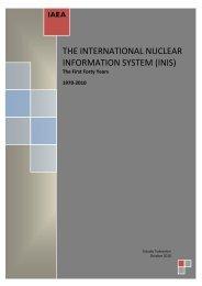 THE INTERNATIONAL NUCLEAR INFORMATION SYSTEM ... - IAEA