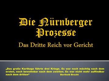Die Nürnberger Prozesse Das dritte Reich vor Gericht