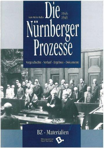 Die Nürnberger Prozesse - Bildungszentrum Nürnberg - Stadt ...