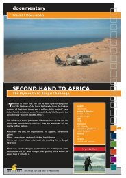 Docu-soap SECOND HAND TO AFRICA The ... - Interspot Film