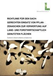 Richtlinie für den Einsatz von Pflanzenasche - BFW