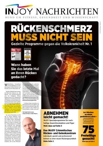 Für Ihre Stütz- und Rückenmuskulatur gilt - INJOY Crimmitschau