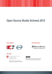 Open Source Studie Schweiz 2012 - ch/open