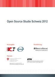 Open Source Studie Schweiz 2012 - ch/open