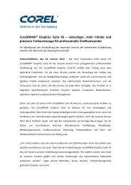 CorelDRAW® Graphics Suite X5 – vielseitiger ... - Corel Corporation