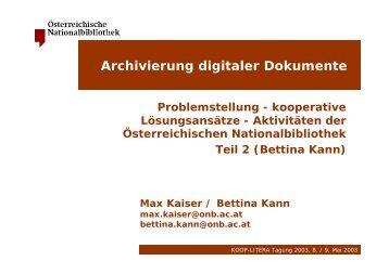 OAIS - Österreichische Nationalbibliothek