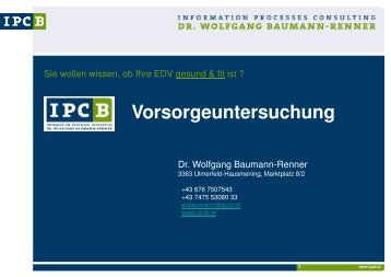 Vorsorgeuntersuchung - IPCB eU